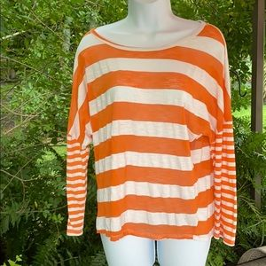 AGENDA ORANGE WHITE STRIPES XL LONG SLEEVES LIGHT